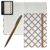 набор подарочный deVente (записная книжка+ручка шариковая)Белый с золотом