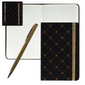 набор подарочный deVente (записная книжка+ручка шариковая)Черный с золотом
