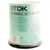 диск CD-R TDK 700MB 52х 80мин. бокс 1/100