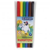 фломастеры 06цв. CENTROPEN Пингвины смываемые 7790/0686