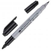 маркер перм. CROWN двойной черный 4мм/2мм