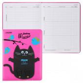 Дневник devente. black cat on the pink универ.