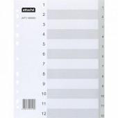 индекс-разделитель А4 1-12 цифры  Attache